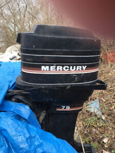 WANTED   WILL BUY 50 and 75 horse Mercury Engines  Mid 80`s