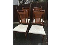 SET OF 4 WOOD CHAIRS SHABBY CHIC PROJECT ** FREE DELIVERY TONIGHT **
