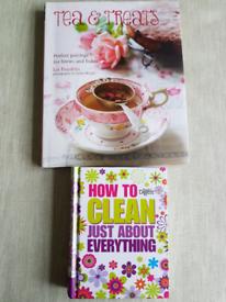 Cleaning tips book+ tea+treats recepie book