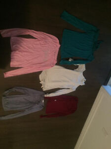 5 ASSORTED LONG SLEEVE TOPS JUICY COUTURE AND MORE