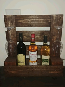 Wine display rack.