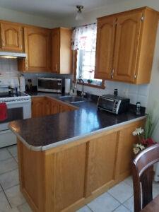 armoires de cuisine et comptoir + évier