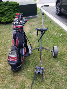 Affinity Golf Clubs with Pull Cart- Jr size, Left handed
