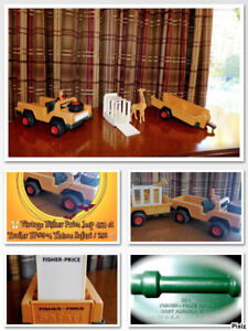 Vintage Fisher-Price | Jeep | Trailer | FP304 | Safari