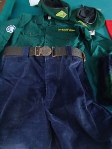 Vintage Canadian Boy Scout Uniform and collectable  items