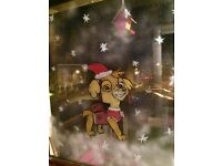 Paw patrol Christmas window painting