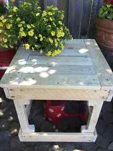 Table basse pour la terrasse construite en bois de palettes West Island Greater Montréal image 2