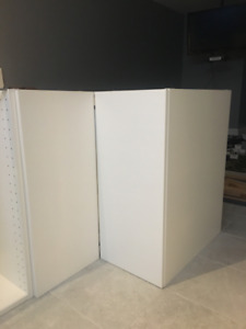 IKEA Corner base cabinet in white, Door Häggeby white