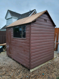 8' X 6' SHED GOOD CONDITION WITH NEW FELT ROOF FREE LOCAL DELIVERY