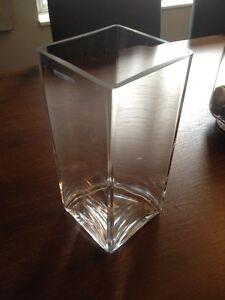 Square Crystal Vase (Brand New)