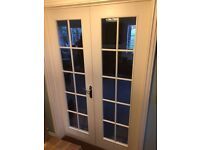 1 pair of glazed internal rebated doors