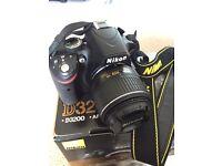 Nikon D D3200 24.2MP Digital SLR Camera - Black (Kit w/ AF-S DX VR 18-55mm...