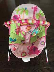 Pink bouncy chair