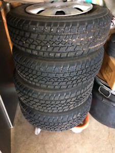 15 inch Artic Claw Winter Tires and rims