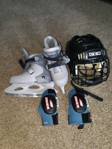 Kids CCM skated package size 1-12 youth