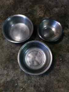 Large stainless steel bowls