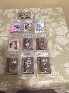10 Graded Football Cards - $25 for all or $3 each