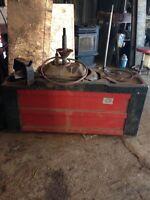 Machine pour posent de pneus