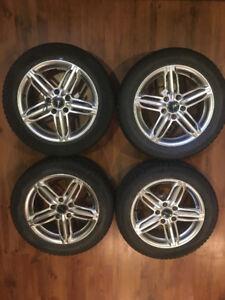 4 mags et pneus d'hiver + tapis d'hiver