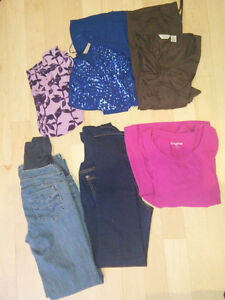 Maternity: 2 pants, 4 tops, size S, $ 10 for everything
