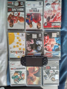 Playstation Portable (PSP) with 9 Games!