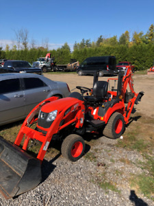 Kioti CS2410 with Loader, Backhoe and Mower- Like New