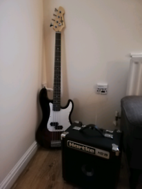Bass guitar & amp