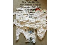 Tiny baby bundles - BabyGap, M&S, John Lewis etc