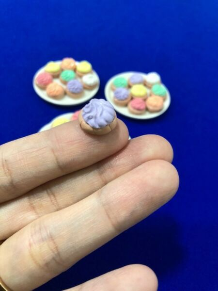 Handmade Miniature Icing Gem Biscuits (Clay)