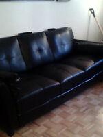 sofa simili cuire