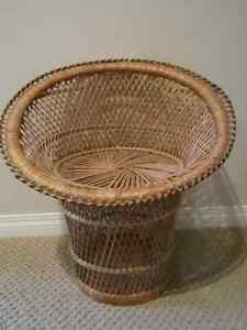 Vintage Large 21'' Tall Woven Wicker Doll Chair Regina Regina Area image 2