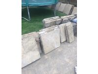 Slabs free to collector, yellow in colour