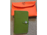 Lovely green herms purse wallet
