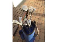 Golf clubs (Precisionaire) and Taylor Made soft bag with cover