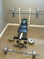 York Weight Bench with Weights