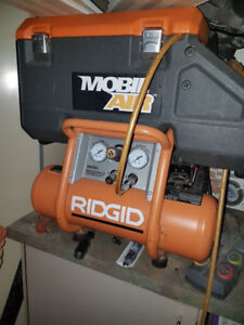 Ridgid ZRR6903CFA Air Compressor With 2 Nailer Toolbox Combo Kit