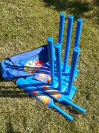Cricket Games Set. Sturdy Zip Bag.
