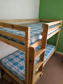 Bunk beds with 2 mattresses
