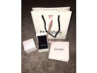 Brand new Pandora May birthstone earrings