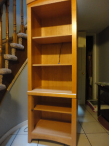 Book case with back light lamp