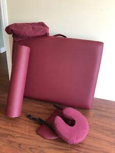 Portable Massage Table with headrest,leg raiser, fennel cover