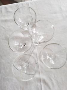 6 sherry/porto/ice wine glasses