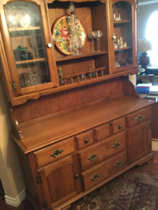 Solid maple antique China Cabinet.