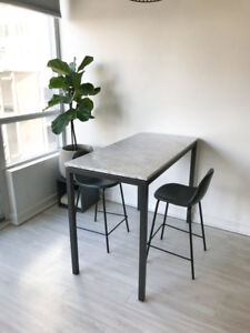 West Elm - Marble Bar / Counter Table with Chairs