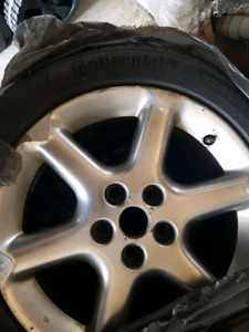 """Continental tyres 17"""" on rims"""