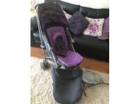 Maclaren xlr pushchair grey purple majesty
