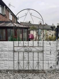 Wrought iron gate / garden gate / metal gate / entry gate / side gate