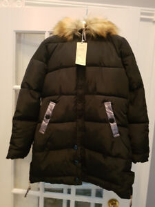Women's down-filled puffer coat. BRAND NEW