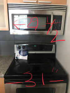 Dishwasher, Electric Range and Over the Range Microwave