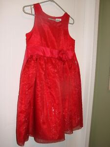 Claire Bell - Red Dress (satin with Sparkle Accents) size 10/12 Kitchener / Waterloo Kitchener Area image 2